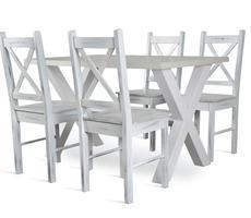 Stół model X + 4 krzesła model 79