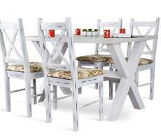 Stół model X 80x120cm + 4 krzesła
