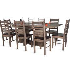 STÓŁ na kolumnie + 8 krzeseł