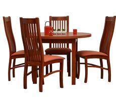 Stół okrągły + 4 krzesła - ST-32 śr.110/145/75 + 4 KR-39