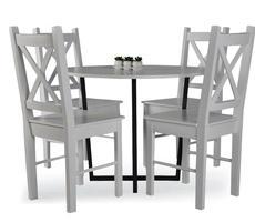 Stół okrągły Alabama śr. 90cm + 4 krzesła