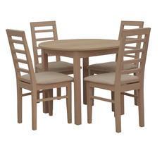 Stół okrągły do kuchni śr. 80 lub 90cm z krzesłami