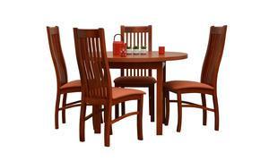 Stół okrągły - rozkładany do 145cm + 4 krzesła