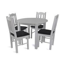 Stół okrągły śr. 80cm lub 90cm + 4 krzesła