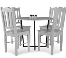 Stół okrągły śr. 90cm Alabama + 4 krzesła
