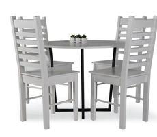 Stół okrągły z krzesłami Alabama - śr. 90cm
