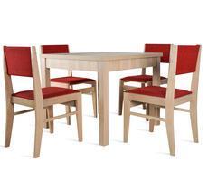 Stół pokojowy 90x90/140cm z 4 krzesłami