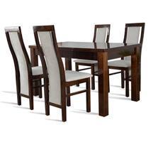 Stół pokojowy- rozkładany do 250cm + 4 krzesła