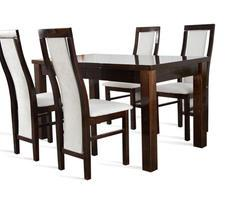 Stół pokojowy- rozkładany do 250cm + 4 krzesła POŁYSK