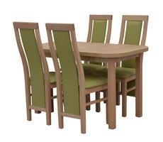 Stół prostokątny - rozkładany do 162cm + 4 krzesła