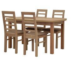 Stół prostokątny - rozkładany do 180cm + 4 krzesła