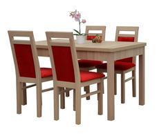 Stół prostokątny - rozkładany do 180cm + 6 krzeseł
