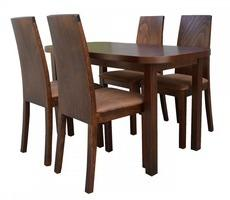 Stół prostokątny z 4 krzesłami - rozkładany