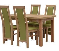 Stół prostokątny z krzesłami - rozkładany do 180cm