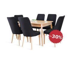 Stół REMY 80x120cm z 6 krzesłami