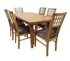 Stół rozkładany + 6 krzeseł - MDF DIAMENT
