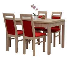 Stół rozkładany 80x140/180 z krzesłami