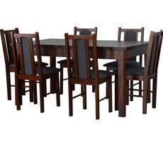 Stół rozkładany 80x140cm z 6 krzesłami