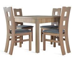 Stół rozkładany 90x90/190cm z 4 krzesłami