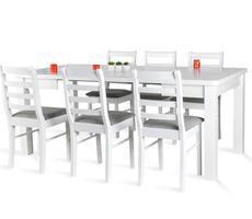 Stół rozkładany 90x90/190cm z 6 krzesłami