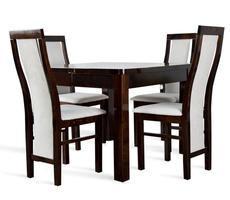 Stół rozkładany do 190cm + 4 krzesła POŁYSK