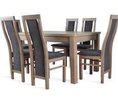 Stół rozkładany do 190cm + 6 krzeseł