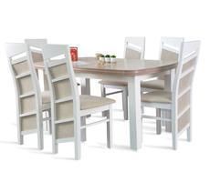Stół rozkładany do 190cm + 6 krzeseł model 63