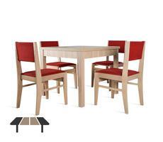 Stół rozkładany do 190cm z 4 krzesłami