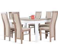 Stół rozkładany do 250cm + 6 krzeseł