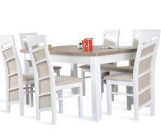 Stół rozkładany do 250cm + 6 krzeseł model 63