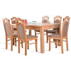 Stół rozkładany do 250cm z 6 krzesłami