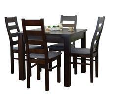 Stół rozkładany kwadratowy z krzesłami