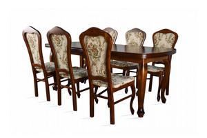 Stół rozkładany z krzesłami - do 250cm