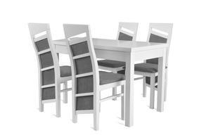 Stół z krzesłami 68x127 - rozkładany do 162cm