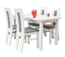 Stół z krzesłami 80x140 - rozkładany do 180cm