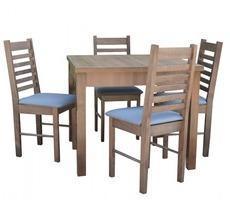 Stół z krzesłami 90x90 - rozkładany do 190cm