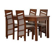 Stół z krzesłami do salonu - rozkładany do 180cm